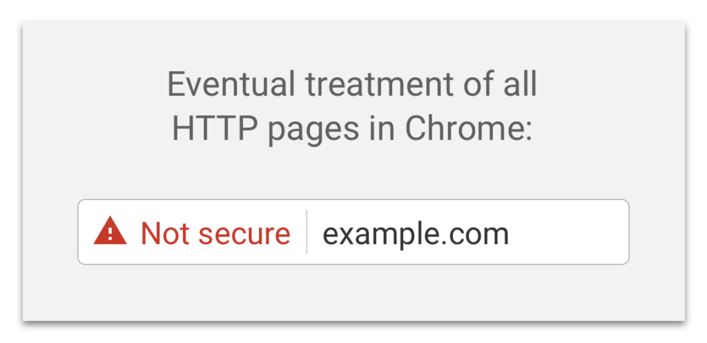 Future HTTP warning in Chrome