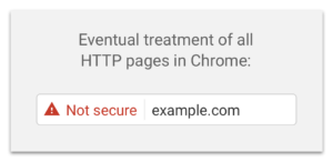 Chrome is marking your site 'Not Secure' until you move to HTTPS